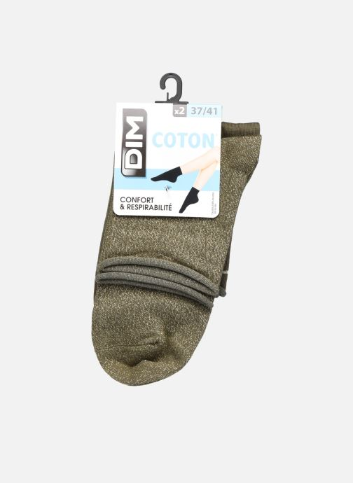 Sokken en panty's Dim COTON STYLE Lurex SOCQUETTE Lot de 2 Groen detail