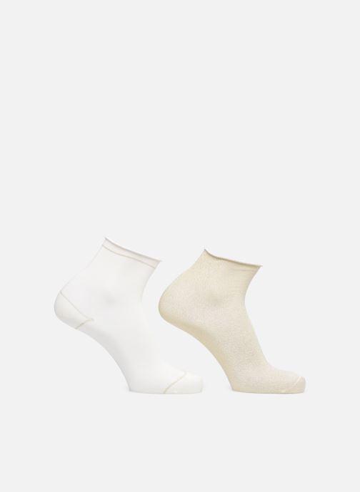 Sokken en panty's Dim COTON STYLE Lurex SOCQUETTE Lot de 2 Beige model