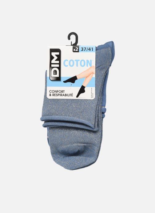 Socken & Strumpfhosen Dim COTON STYLE Lurex SOCQUETTE Lot de 2 blau detaillierte ansicht/modell
