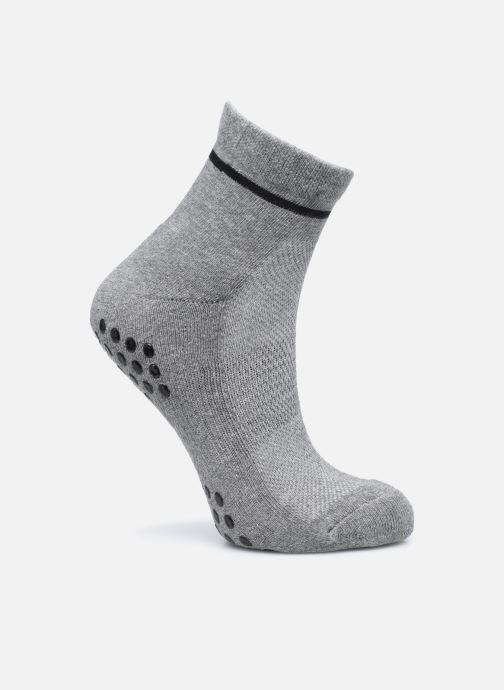 Chaussettes et collants Dim SOCQUETTE YOGA IMPACT LEGER Gris vue portées chaussures