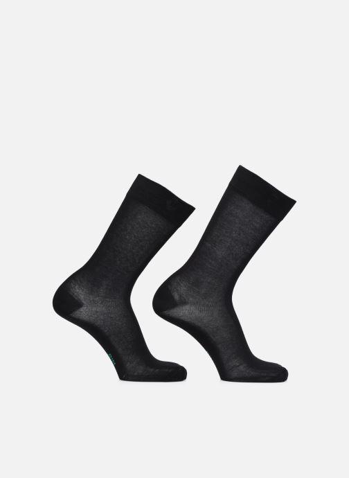 Chaussettes et collants Dim GREEN COTON BIO MI CHAUSSETTE Homme Lot de 2 Noir vue portées chaussures