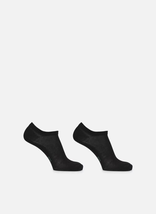 Chaussettes et collants Dim GREEN COTON BIO MI SOCQUETTE COURTE Homme Lot de 2 Noir vue portées chaussures