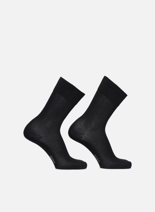 Chaussettes et collants Dim BAMBOU MI CHAUSSETTE LOT DE 2 Noir vue portées chaussures