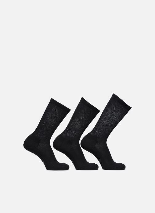 Chaussettes et collants Dim Mi-Chaussette Outdoor Coton X3 Noir vue portées chaussures