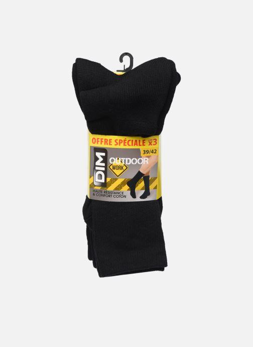 Chaussettes et collants Dim Mi-Chaussette Outdoor Coton X3 Noir vue détail/paire