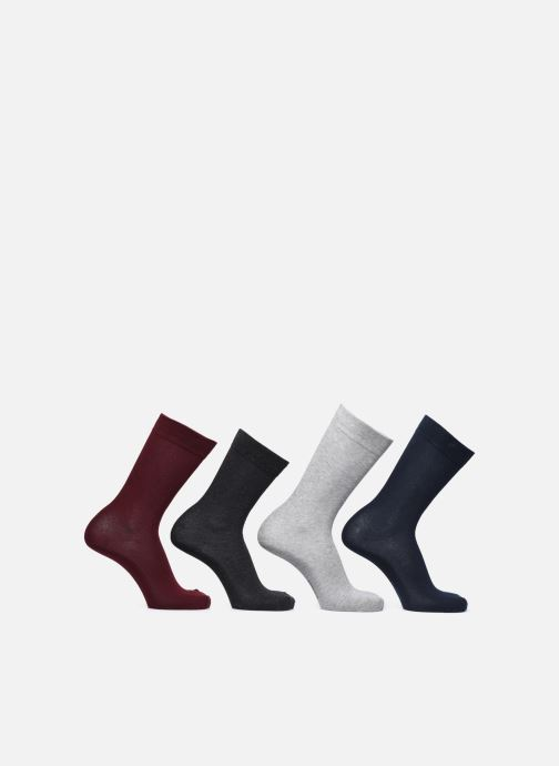 Chaussettes et collants Dim Mi-Chaussette Classique Coton X4 Multicolore vue portées chaussures