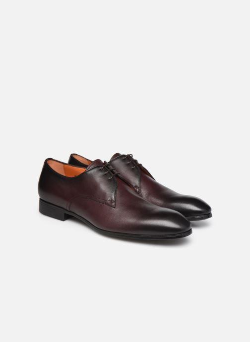Zapatos con cordones Santoni Party Vino vista 3/4