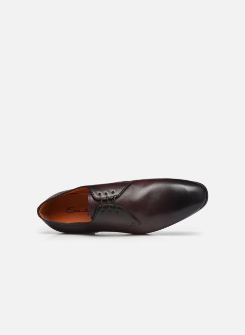 Zapatos con cordones Santoni Party Vino vista lateral izquierda