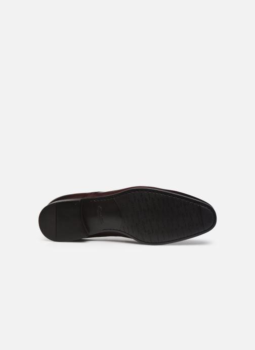 Zapatos con cordones Santoni Party Vino vista de arriba