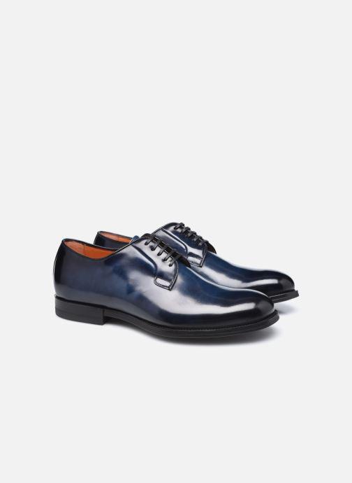 Scarpe con lacci Santoni NEW PORT Azzurro immagine 3/4