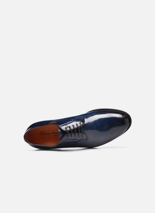 Scarpe con lacci Santoni NEW PORT Azzurro immagine sinistra