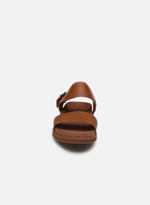 Sandalen Timberland Amalfi Vibes 2 Band Sandal braun schuhe getragen