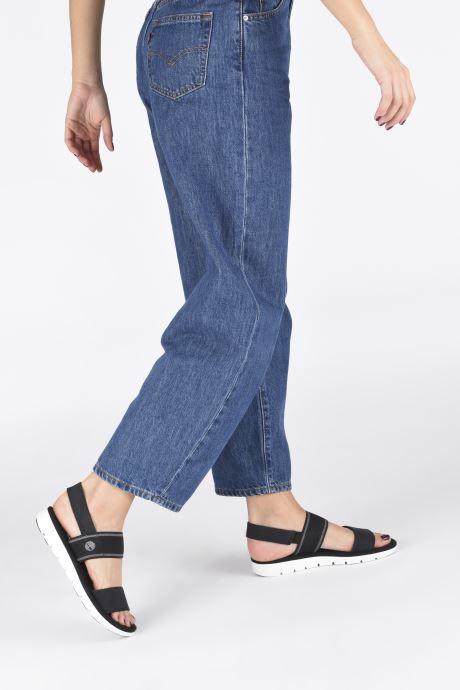 Sandalen Timberland Lottie Lou F/L 2 Band Sandal schwarz ansicht von unten / tasche getragen