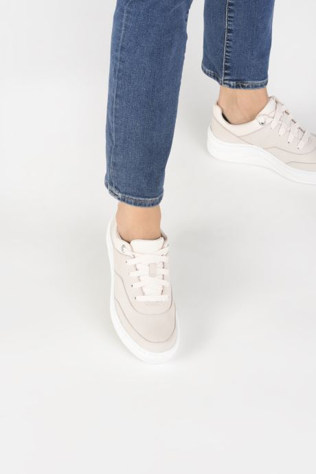 Sneaker Timberland Ruby Ann Ox rosa ansicht von unten / tasche getragen