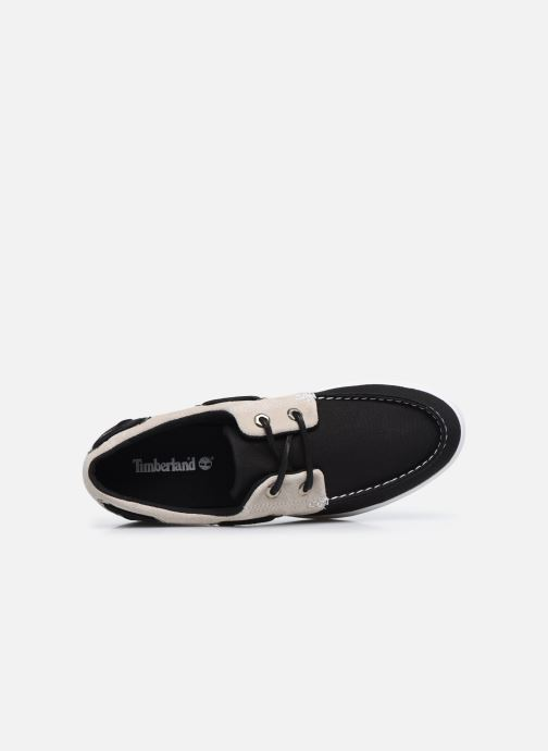 Zapatos con cordones Timberland Union Wharf F/L 2 Eye Boat Negro vista lateral izquierda