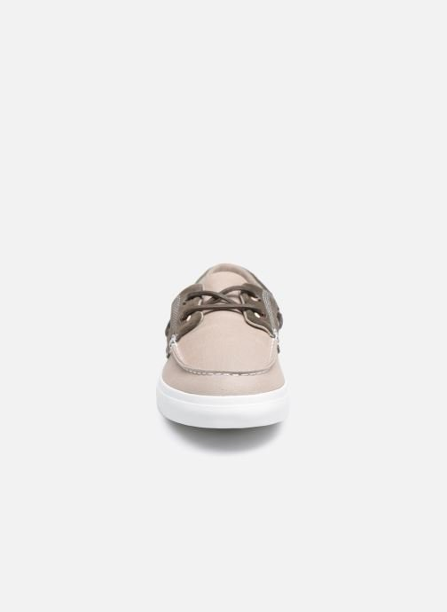 Chaussures à lacets Timberland Union Wharf F/L 2 Eye Boat Beige vue portées chaussures
