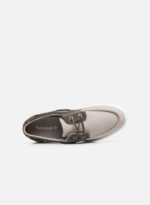Chaussures à lacets Timberland Union Wharf F/L 2 Eye Boat Beige vue gauche