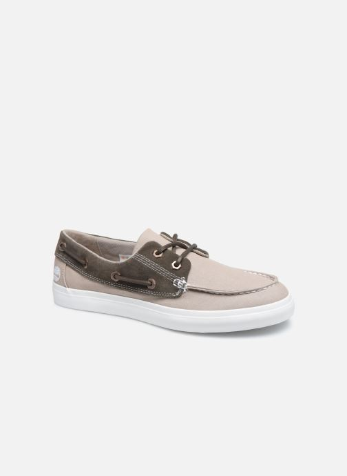 Chaussures à lacets Timberland Union Wharf F/L 2 Eye Boat Beige vue détail/paire
