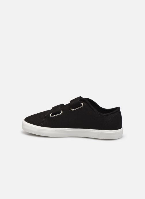 Sneaker Timberland Newport Bay Canvas 2 Strap Ox schwarz ansicht von vorne