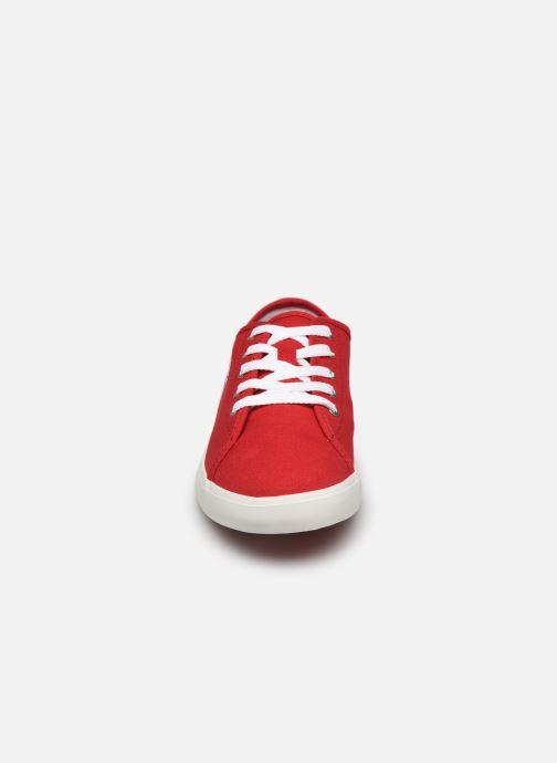 Sneaker Timberland Newport Bay Canvas Ox rot schuhe getragen