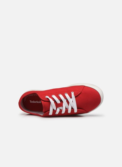 Baskets Timberland Newport Bay Canvas Ox Rouge vue gauche