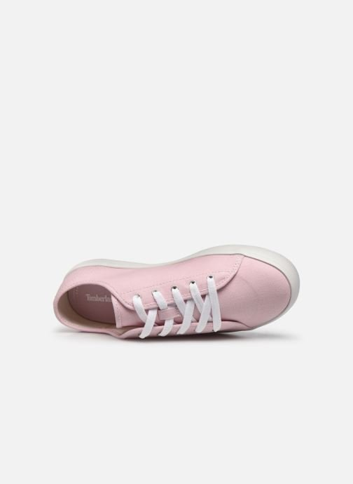 Sneaker Timberland Newport Bay Canvas Ox rosa ansicht von links