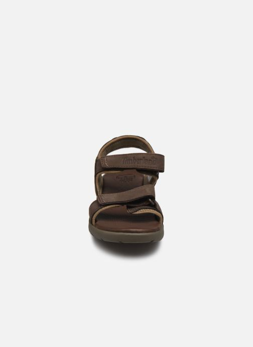 Sandales et nu-pieds Timberland Nubble Sandal Leather 2 Strap Marron vue portées chaussures