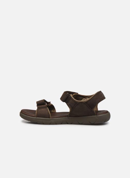 Sandali e scarpe aperte Timberland Nubble Sandal Leather 2 Strap Marrone immagine frontale