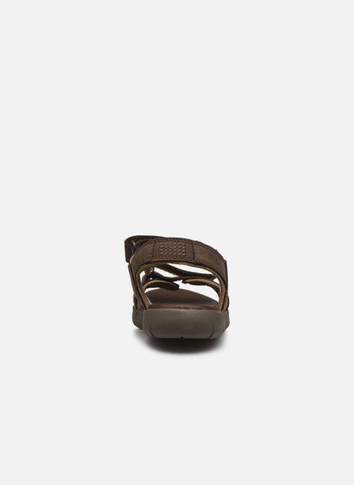 Sandali e scarpe aperte Timberland Nubble Sandal Leather 2 Strap Marrone immagine destra
