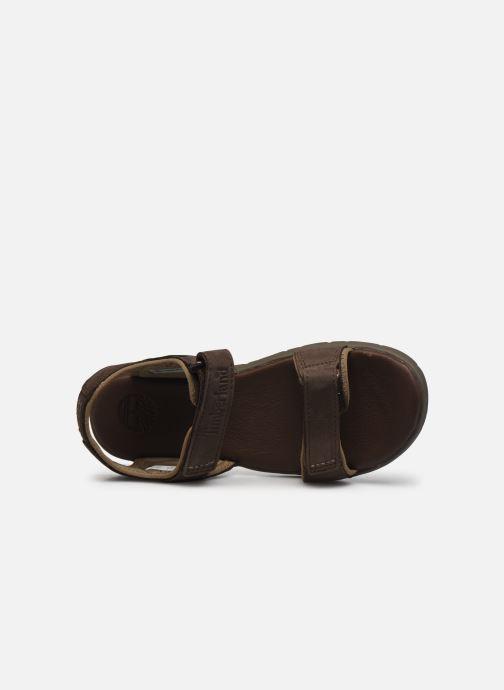 Sandali e scarpe aperte Timberland Nubble Sandal Leather 2 Strap Marrone immagine sinistra