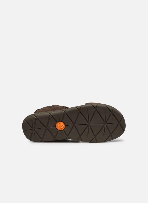Sandales et nu-pieds Timberland Nubble Sandal Leather 2 Strap Marron vue haut
