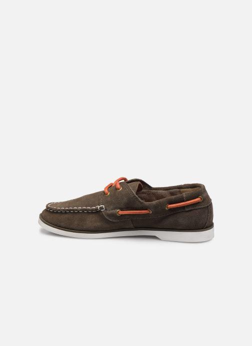 Zapatos con cordones Timberland Seabury Classic 2 Eye Boat Marrón vista de frente