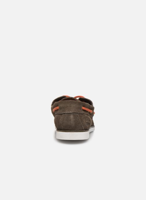 Zapatos con cordones Timberland Seabury Classic 2 Eye Boat Marrón vista lateral derecha