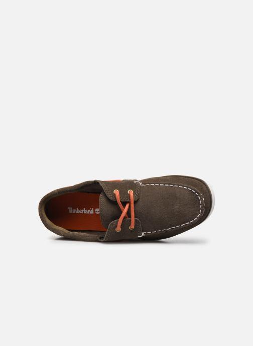 Zapatos con cordones Timberland Seabury Classic 2 Eye Boat Marrón vista lateral izquierda