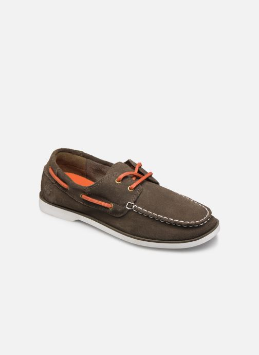 Chaussures à lacets Timberland Seabury Classic 2 Eye Boat Marron vue détail/paire