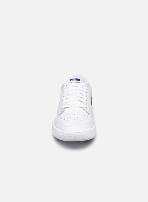 Baskets Puma Ralph Sampson Lo Perf Brushed M Blanc vue portées chaussures