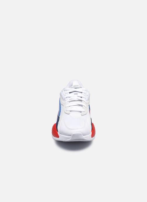 Baskets Puma RSX3 BMW Blanc vue portées chaussures