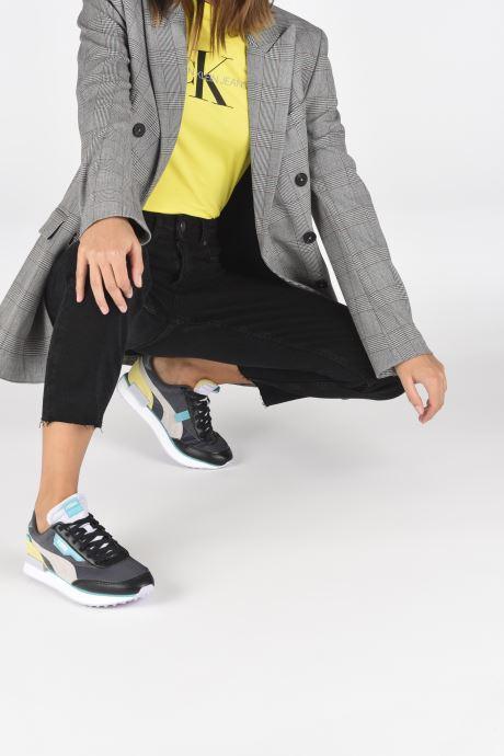 Sneaker Puma Future Rider Soft Metal Wn's schwarz ansicht von unten / tasche getragen