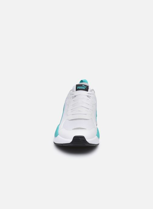 Baskets Puma Motorsport Blanc vue portées chaussures