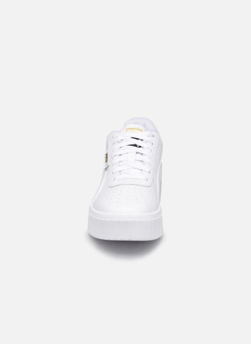 Sneaker Puma Cali Wedge Wn's weiß schuhe getragen