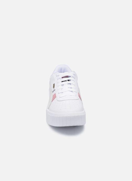 Baskets Puma Cali Wedge Mix Wn's Blanc vue portées chaussures