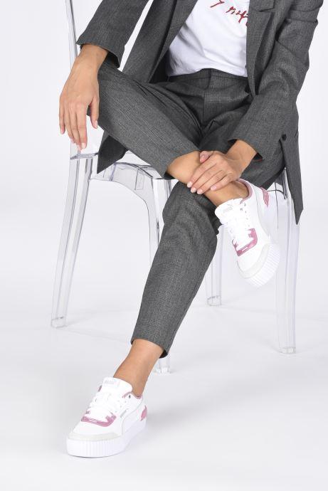 Sneaker Puma Carina Lift weiß ansicht von unten / tasche getragen