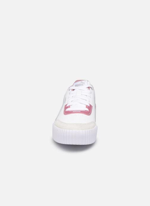 Baskets Puma Carina Lift Blanc vue portées chaussures