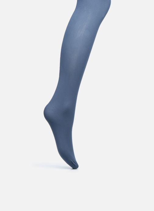 Socken & Strumpfhosen Dim Collant Opaque Velouté 50D blau schuhe getragen