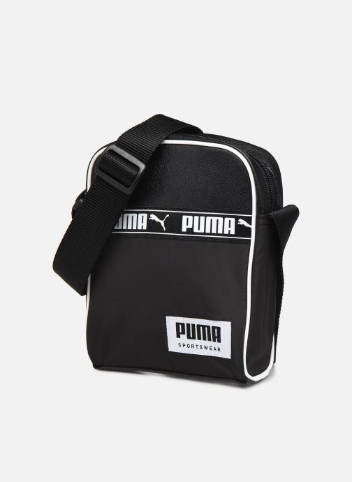 Borse uomo Puma Campus Portable Nero modello indossato