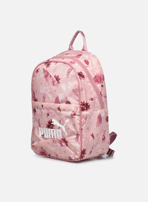 Sacs à dos Puma WMN Core Seasonal Backpack Rose vue portées chaussures