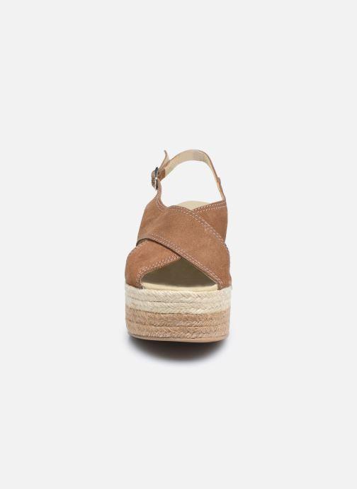 Sandalen Gioseppo MARSTON braun schuhe getragen