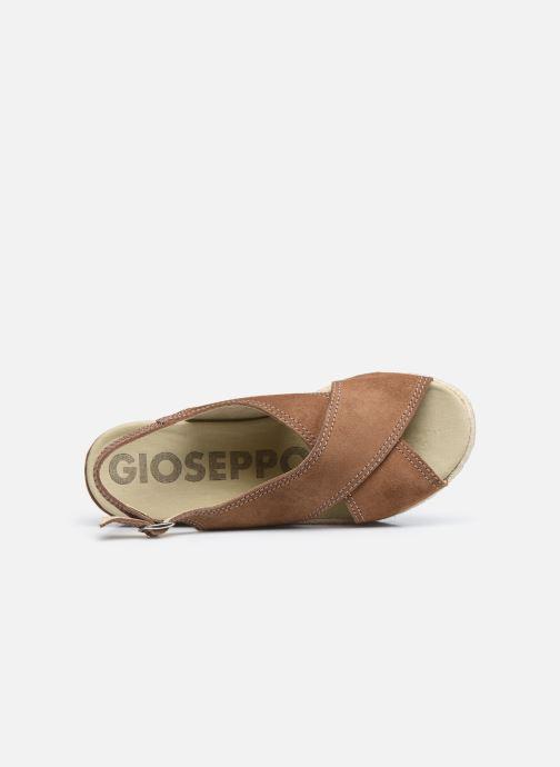 Sandalen Gioseppo MARSTON braun ansicht von links