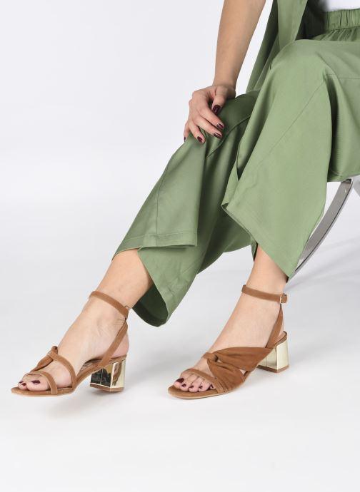 Sandalen Gioseppo ANDOVER braun ansicht von unten / tasche getragen