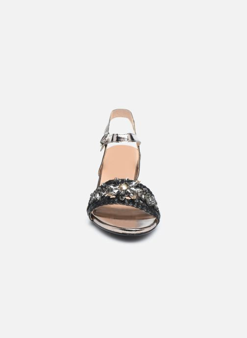 Sandalen Gioseppo 45344 silber schuhe getragen